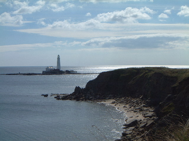 St Mary's lighthouse Old Hartley Northumberland