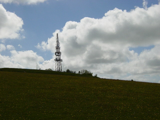 Telecommunications masts on St Roche's Hill