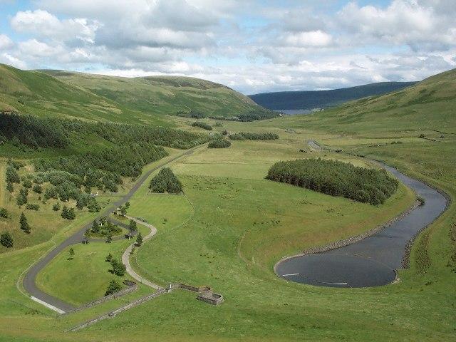 View from Megget Reservoir towards St. Marys Loch