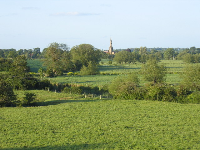 Distant view of All Saints Church, Sherbourne