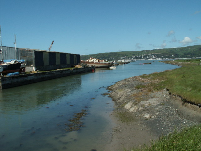 Mouth of the Leri and boatyard