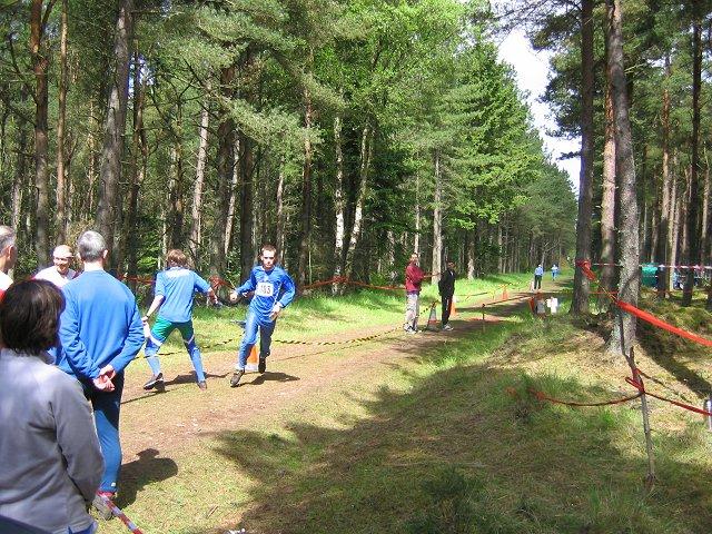 Orienteering in Tentsmuir Forest.