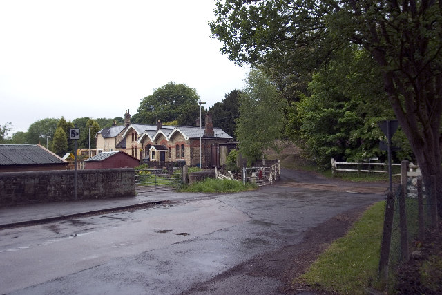 Coxbench Station and level crossing