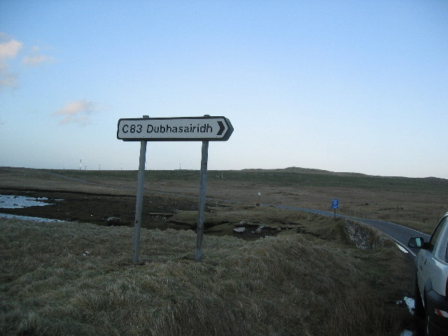 Junction of A865 and C83 near Solas