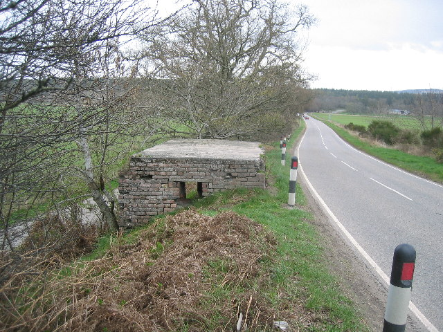 WWII Pillbox by the side of the A862 near Beauly