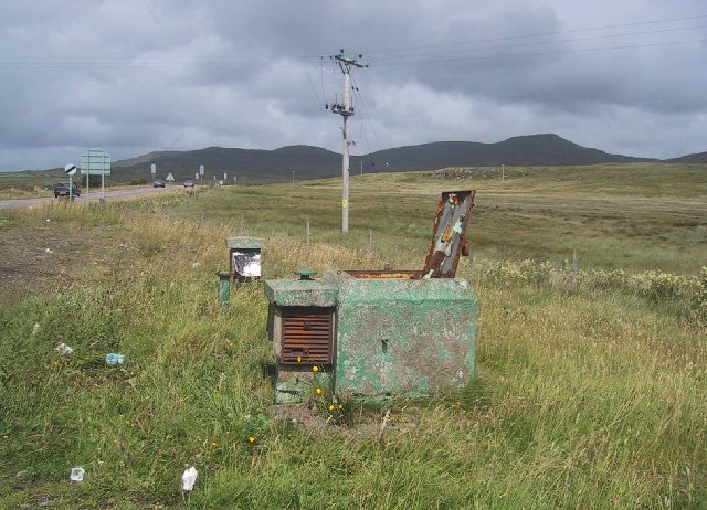 Portree Royal Observer Corps post alongside the A87
