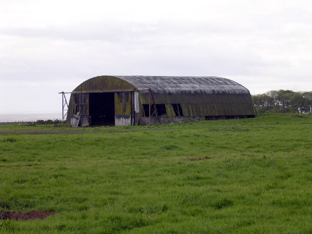 Disused hangar at Hatton Airfield  near East Haven
