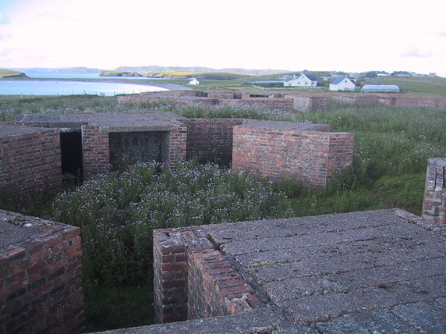 Post-WWII Heavy Anti-Aircraft gun site near Stornoway Airport
