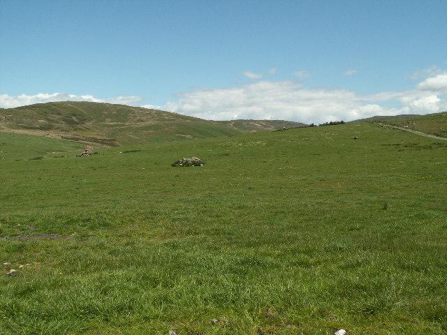 Sheepwalk and cairn, Cae'r Arglwyddes