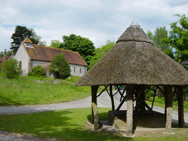 East Marden Well and Church