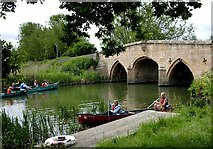SU2899 : Canoeing at Radcot Bridge, Oxfordshire by Nigel James