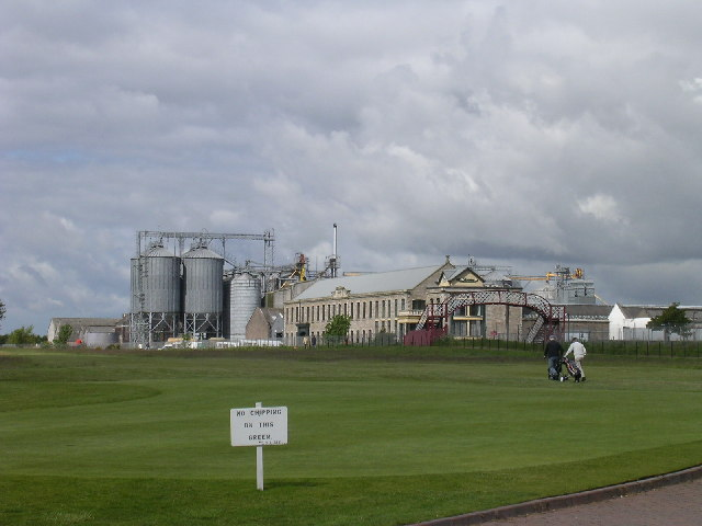 Carnoustie golf course with industrial 'backdrop'