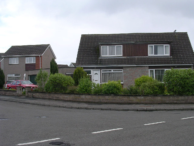 Modern housing on the outskirts of Carnoustie