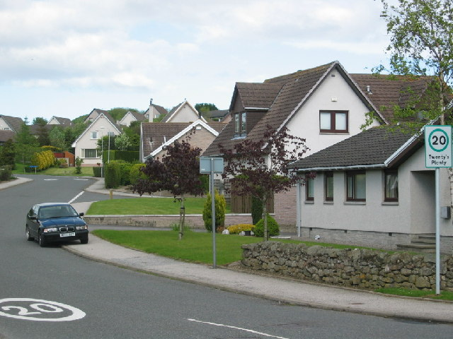 Suburban housing in Westhill