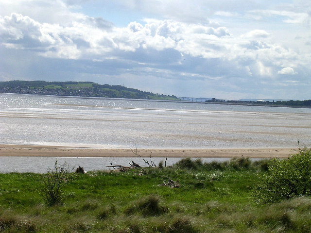 The Tay estuary from Buddon Ness