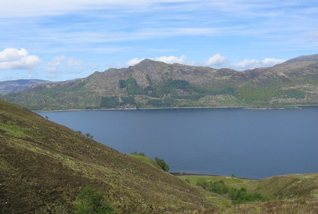 Loch Hourn from Sgamadail