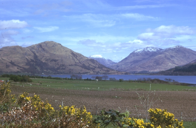 Looking towards Loch Creran and Ben Sgulaird