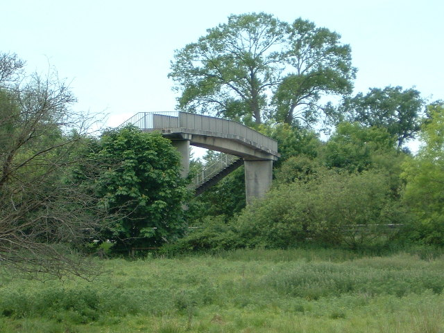 Footbridge over the A34