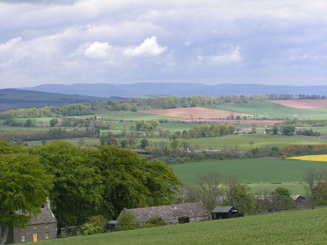 Looking north from the B9134
