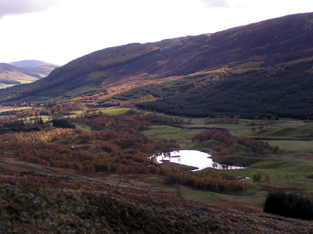 Looking SW along Glen Clova
