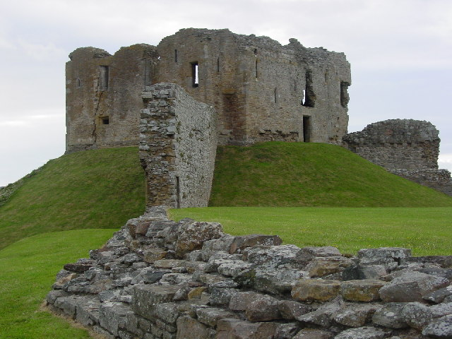 Duffus Castle, from the South-East