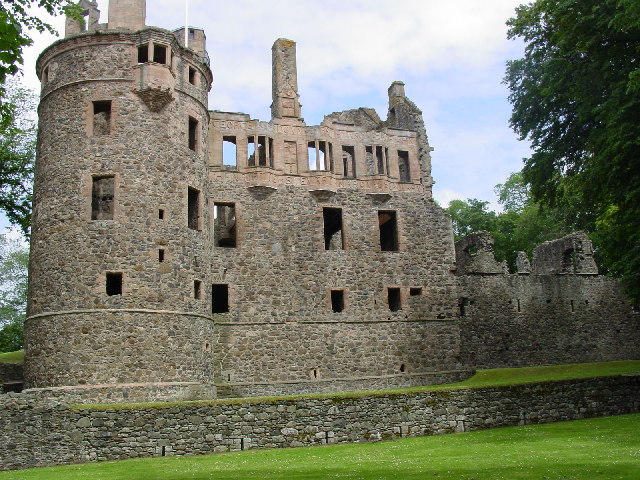 Huntly Castle, view from near main entrance.