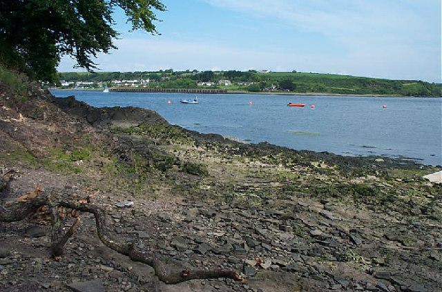 South bank of the Milford Haven near Pembroke Dock