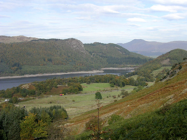 Thirlmere from the footpath up Helvellyn