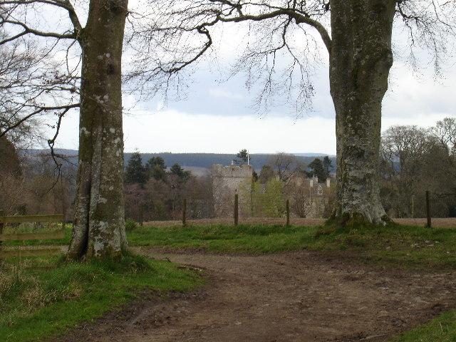 Drum Castle from afar