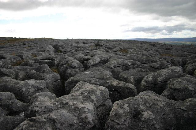 Limestone pavement on Whernside