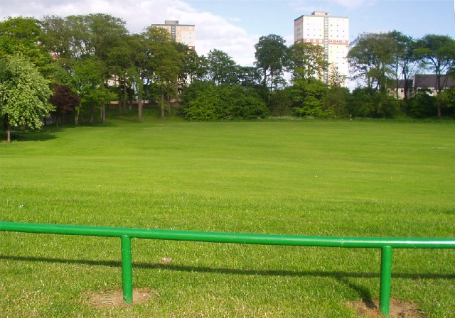 Seaton Park looking towards renovated highrise flats