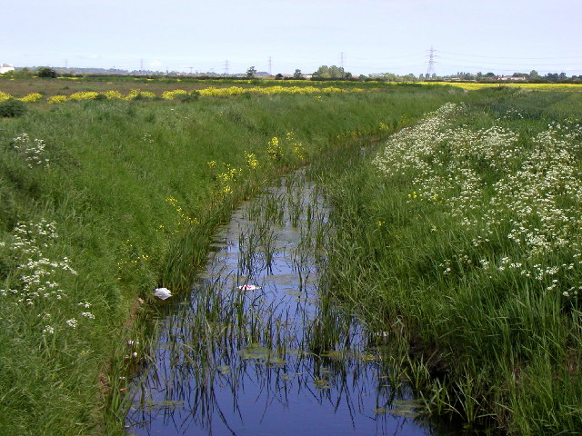 Fleet Drain from the old Hull to Withernsea Railway track