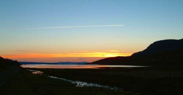 Loch Kishorn at sunset