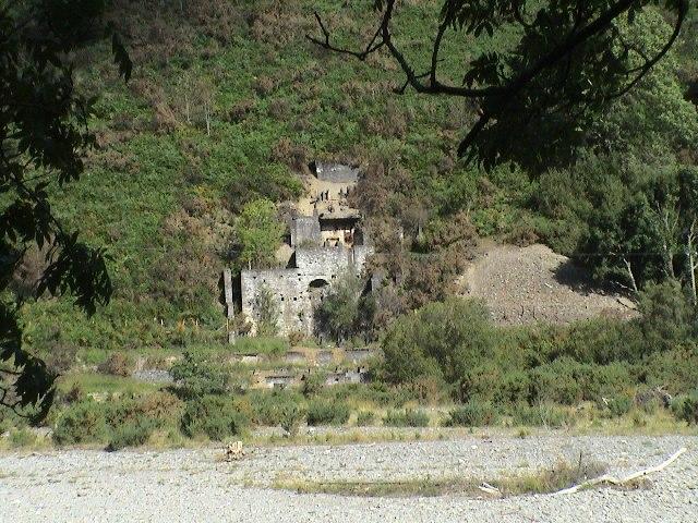 Ruins of a lead mine, near Llanafan
