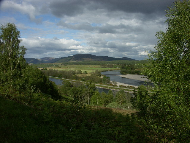Caledonian Canal and River Lochy from B8004 near Gairlochy