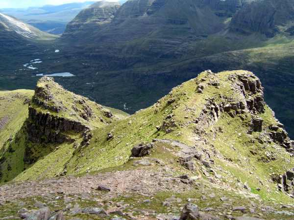 Looking down from the top of Beinn Dearg