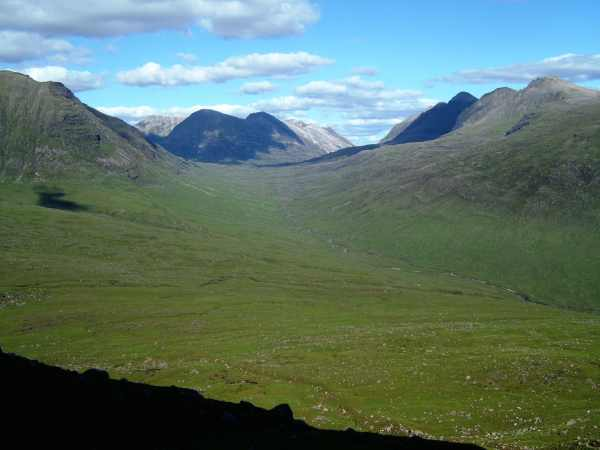 View of Coire Mhic Nobuil from the lower slopes of Beinn Alligin