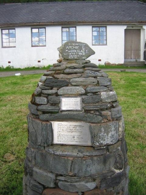 Men of Knoydart memorial.