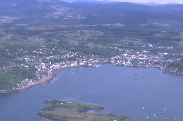 Oban from above Kerrera