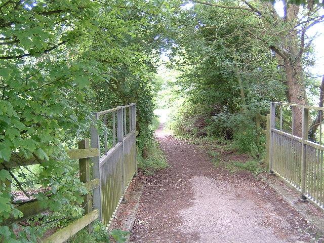 Bridleway next to A34