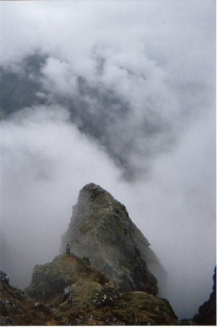 A buttress on the Aonach Eagach ridge