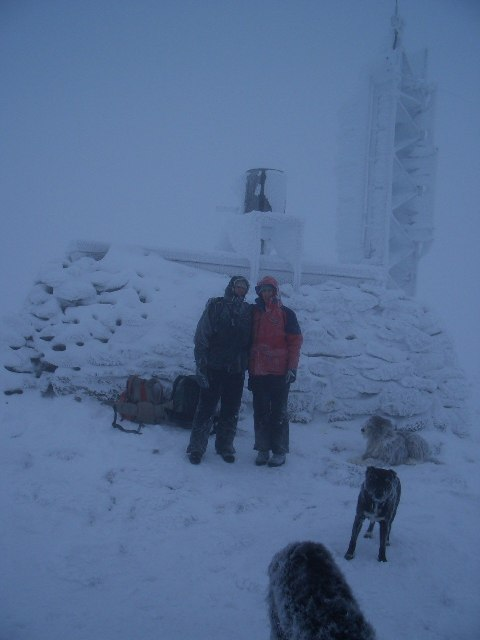 Radio relay and weather station on summit of Cairngorm