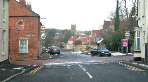 Crossroads in the centre of Colsterworth