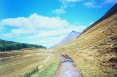 Former A82 under Beinn Odhar