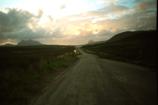 A837 single-track road
