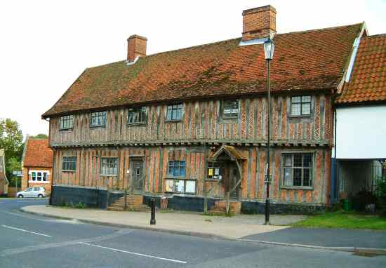 Half-timbered house in Laxfield