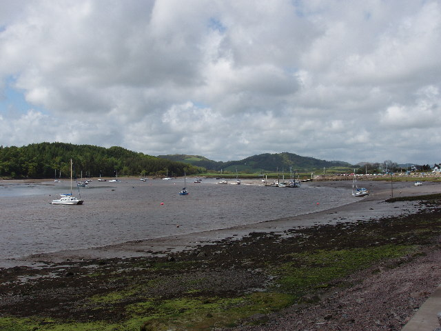 Yachts moored in Urr Water estuary (Rough Firth)