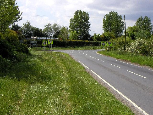 The road junction near Sandhills