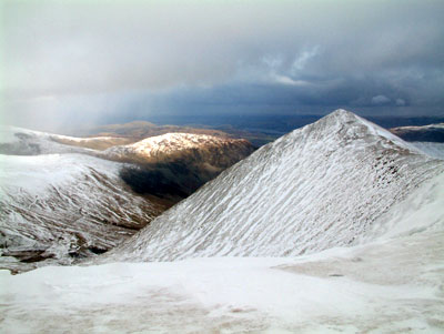 Catstye-Cam looking east from Helvellyn