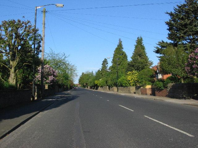 View down Stockton Lane towards York